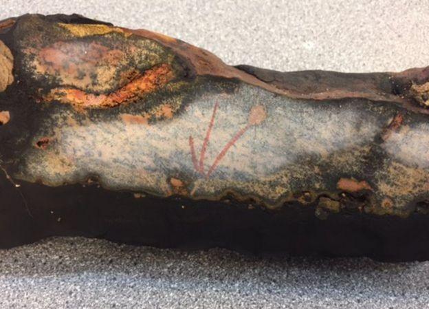 Detalhe de uma rocha do Monte Tropic