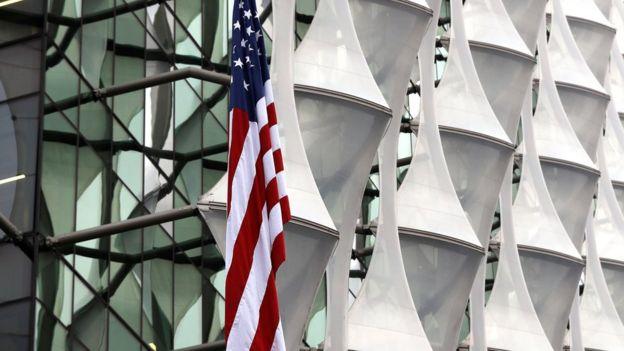 El exterior de la nueva embajada de Estados Unidos en Londres