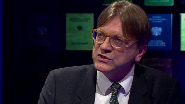Guy Verhofstadt talks to BBC Newsnight