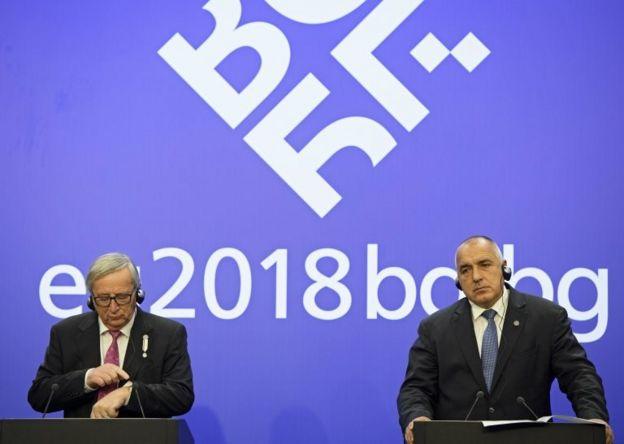 Avrupa Komisyonu Başkanı Jean-Claude Juncker ve Bulgaristan Başbakanı Borisov