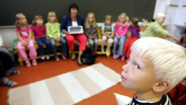 Escuela en Finlandia