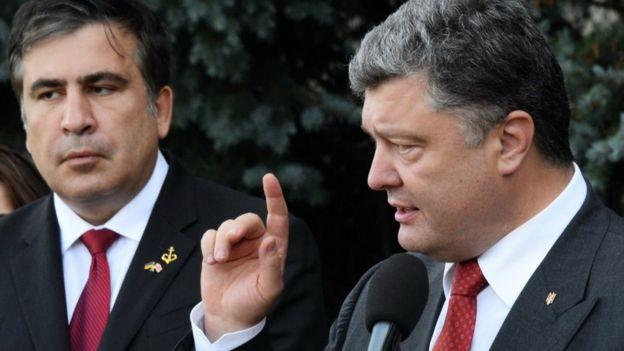 Міхеіл Саакашвілі та Петро Порошенко