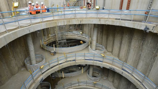 Crossrail constriction site