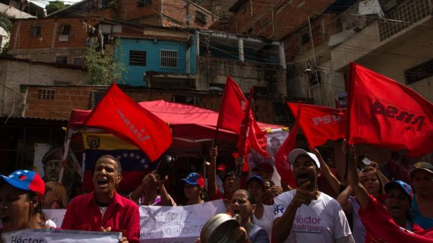 Chavistas festejan.