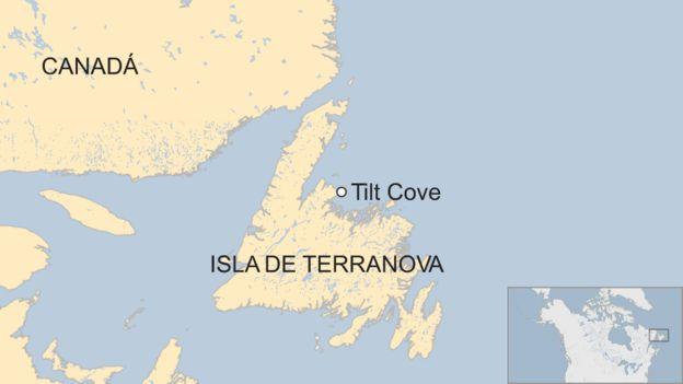 Mapa de Tilt Cove