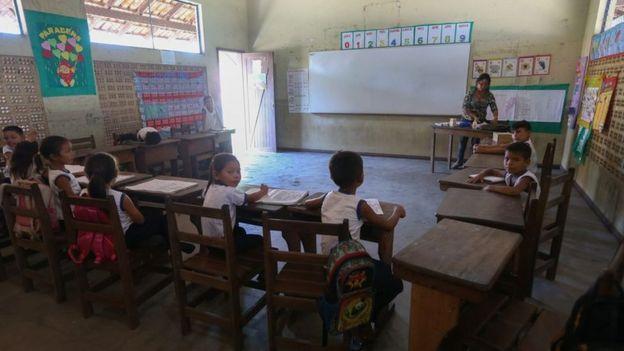 Escola em reserva extrativista