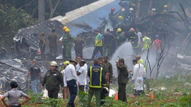 Küba'da uçak kazası