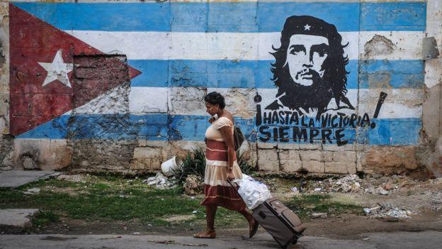 Un mural del Che en La Habana.