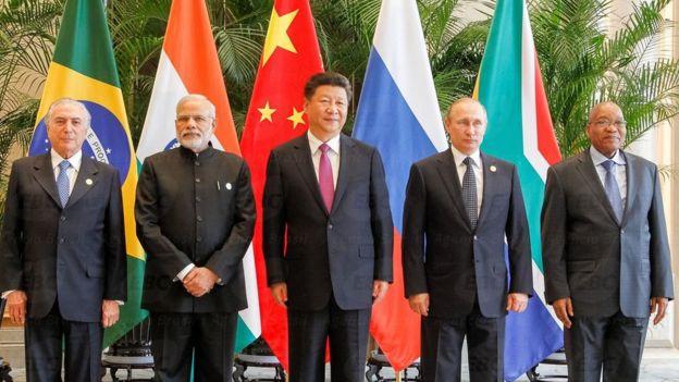 Temer e os líderes dos BRICs