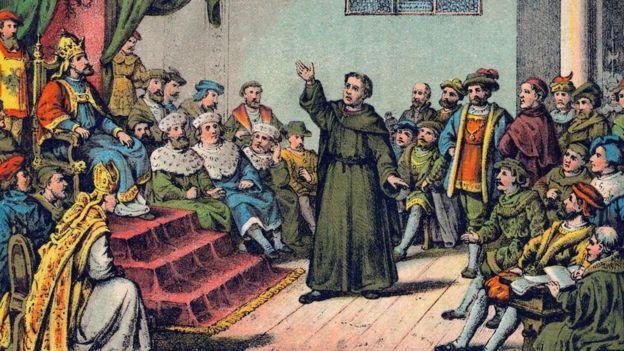 Lutero defendiéndose ante el emperador
