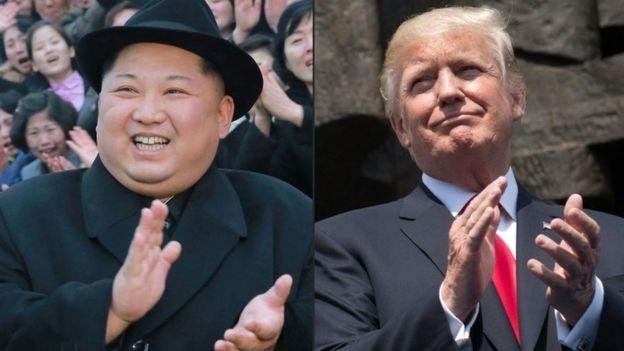 Kim Jong-un ve Donald Trump (arşiv)