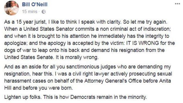 Judge O'Neill Facebook post