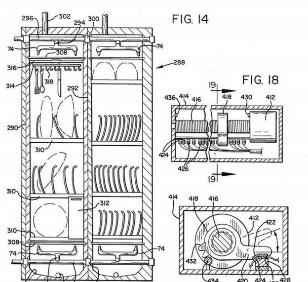 Diseño de la patente de Frances Gabe.