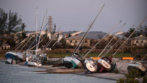 Barcos afectados por Irma en Cayo Hueso