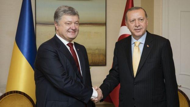 президенты Украины и Турции