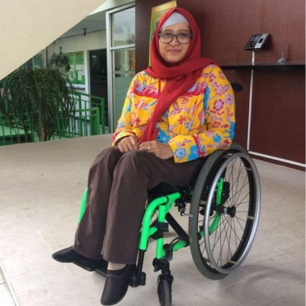 Dwi Ariyani, penyandang disabilitas asal Karanganyar,