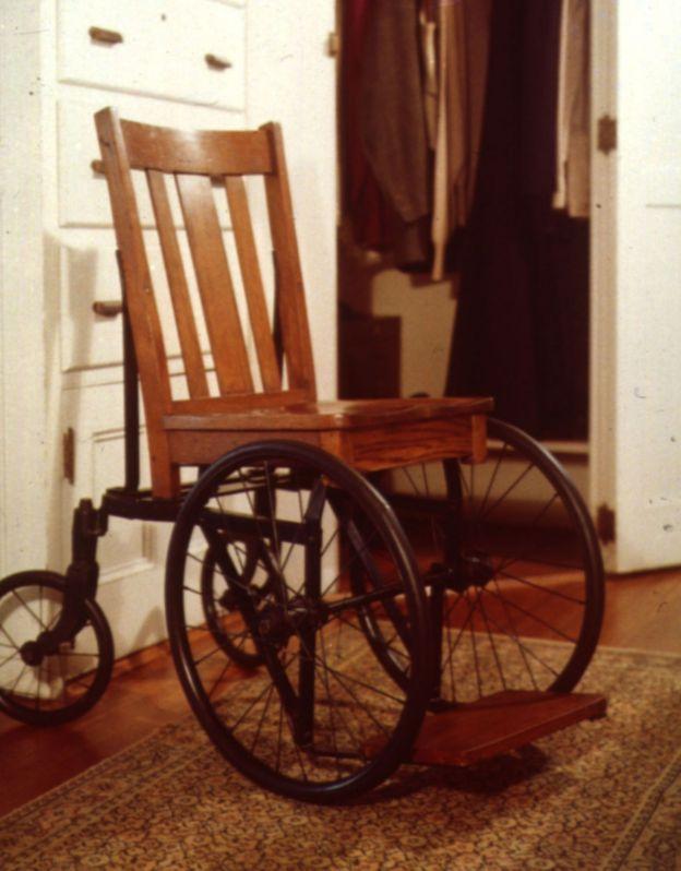 La silla de ruedas de Roosevelt.