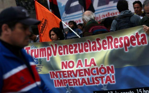 El oficialismo en Venezuela rechazó la sugerencia de Trump de una intervención militar, así como hicieron gobiernos de la región y líderes de la oposición.