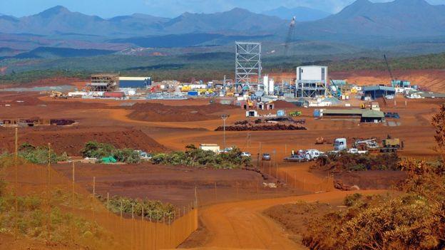 Mina de níquel el Nueva Caledonia