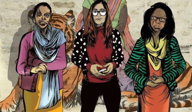 सोनिया चौधरी, मोनिका सिंह, लक्ष्मी शॉ