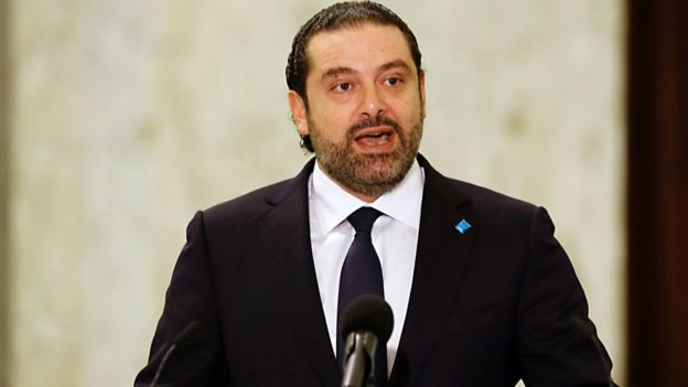 Saad Hariri speaks at the presidential palace in Lebanon (3 November 2016)