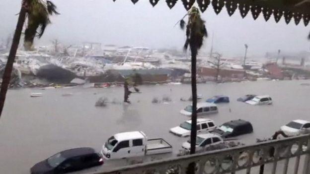 Flood damage on Saint Martin, 6 September