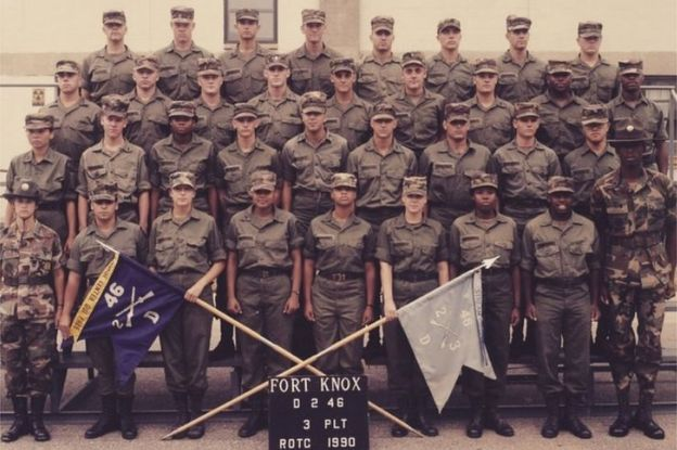 Tammy Duckworth with the National Guard in 1990