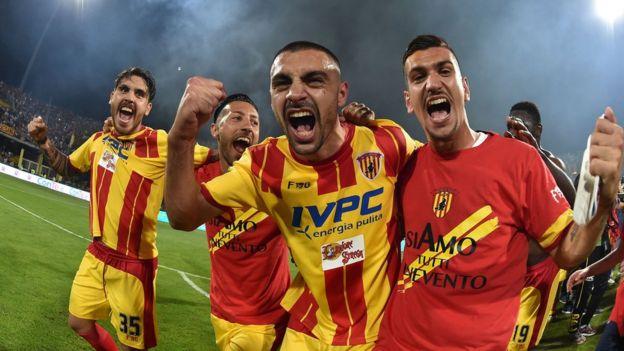 Jugadores del Benevento