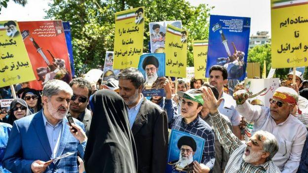 علی مطهری نایب رییس مجلس شورای اسلامی در راهپیمایی روز قدس