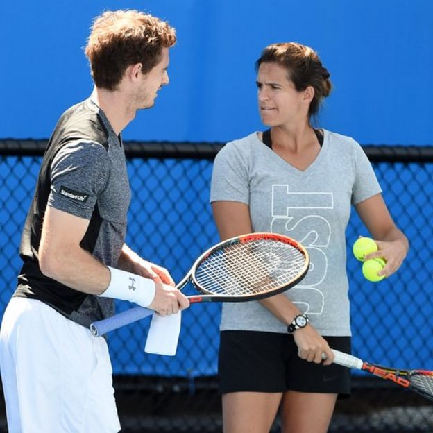 Andy Murray y Amelie Mauresmo