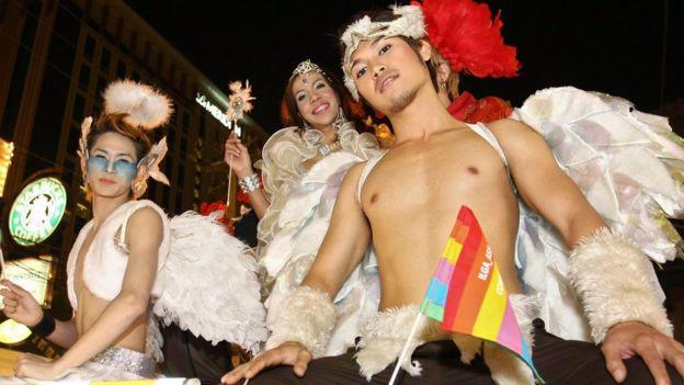 泰國清邁2008年同志遊行。