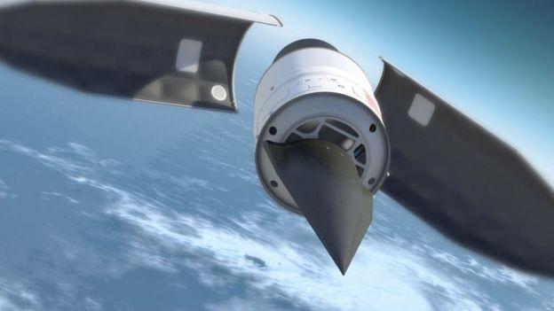 El Falcon HTV-2 es un vehículo de prueba usado por la agencia estadounidense de Defensa, Darpa, diseñado para que algún día llegue a volar a Mach 20., unos 20.000 kilómetros por hora (Foto: Darpa)