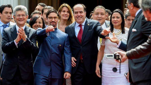 Parlamentarios de la oposición en Venezuela.