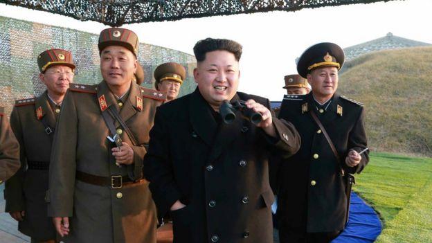 North Korean leader Kim Jong-un inspects military drills