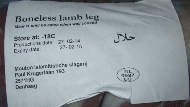 Turkey meat labelled as lamb