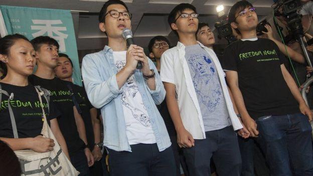 (左至右)罗冠聪、黄之锋、周永康(17/8/2017)