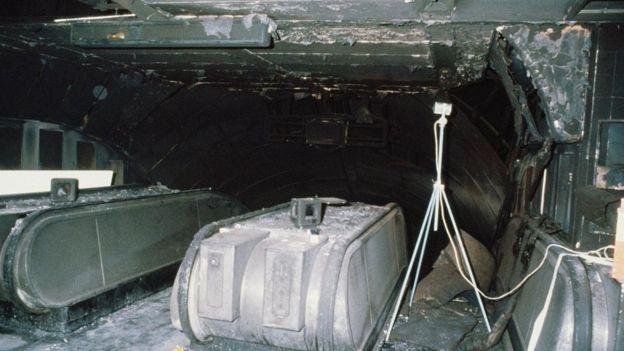 O incêndio na estação de metrô de King's Cross em Londres