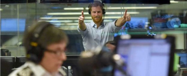 Prince Harry in Today studio