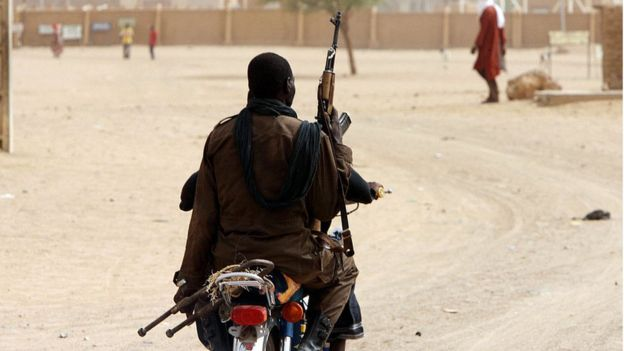 Un soldats de l'armée régulière à Kidal, ville située dans le nord-est du Mali.