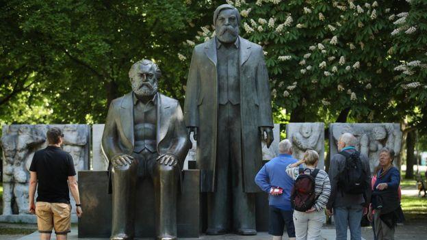 Marx statue in Berlin