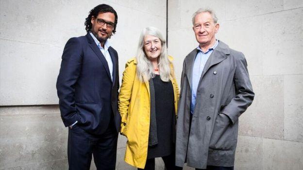Simon Schama, Mary Beard and David Olusoga