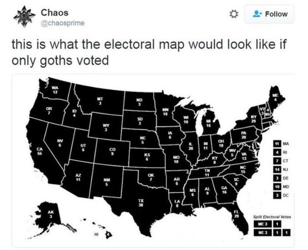 What If Only Goats Voted In The US Election BBC News - Simpsons predictions trump us map