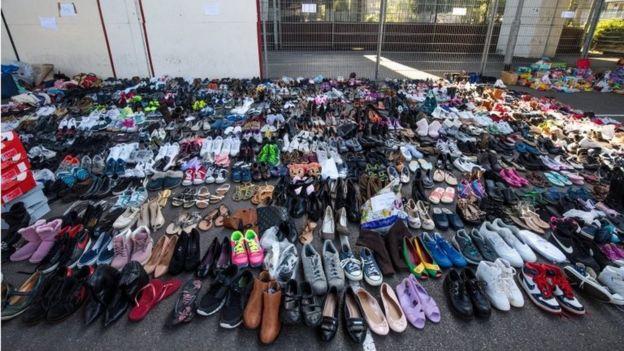 Zapatos de donación