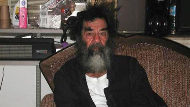 Саддам Хусейн в плену