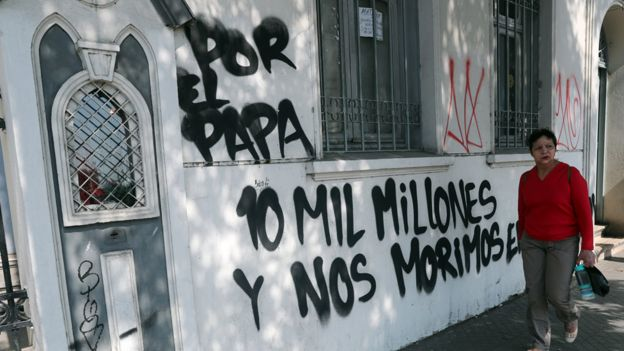 Grafiti contra el papa