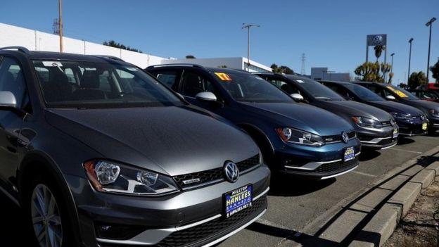 A VW dealership in California
