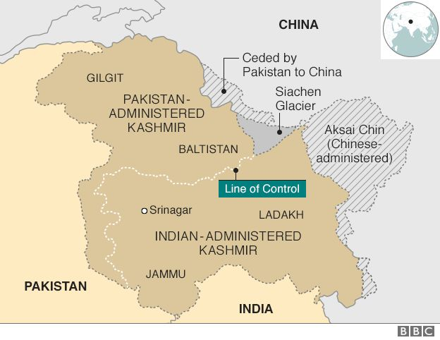 Indias Surgical Strikes In Kashmir Truth Or Illusion BBC News - Border checkpost us map
