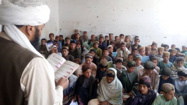 A class in the school in Musa Qala