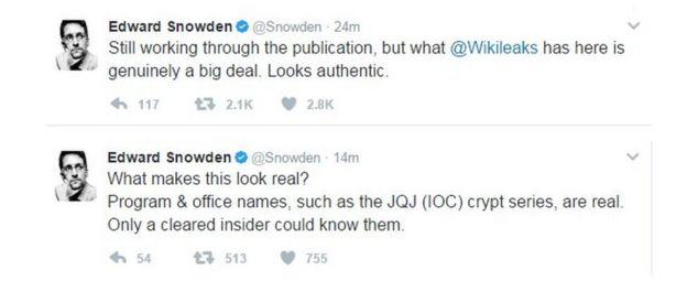 Edward Snowden tweets