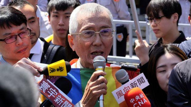 3月24日,祁家威出席宪法法庭,被大批媒体包围。